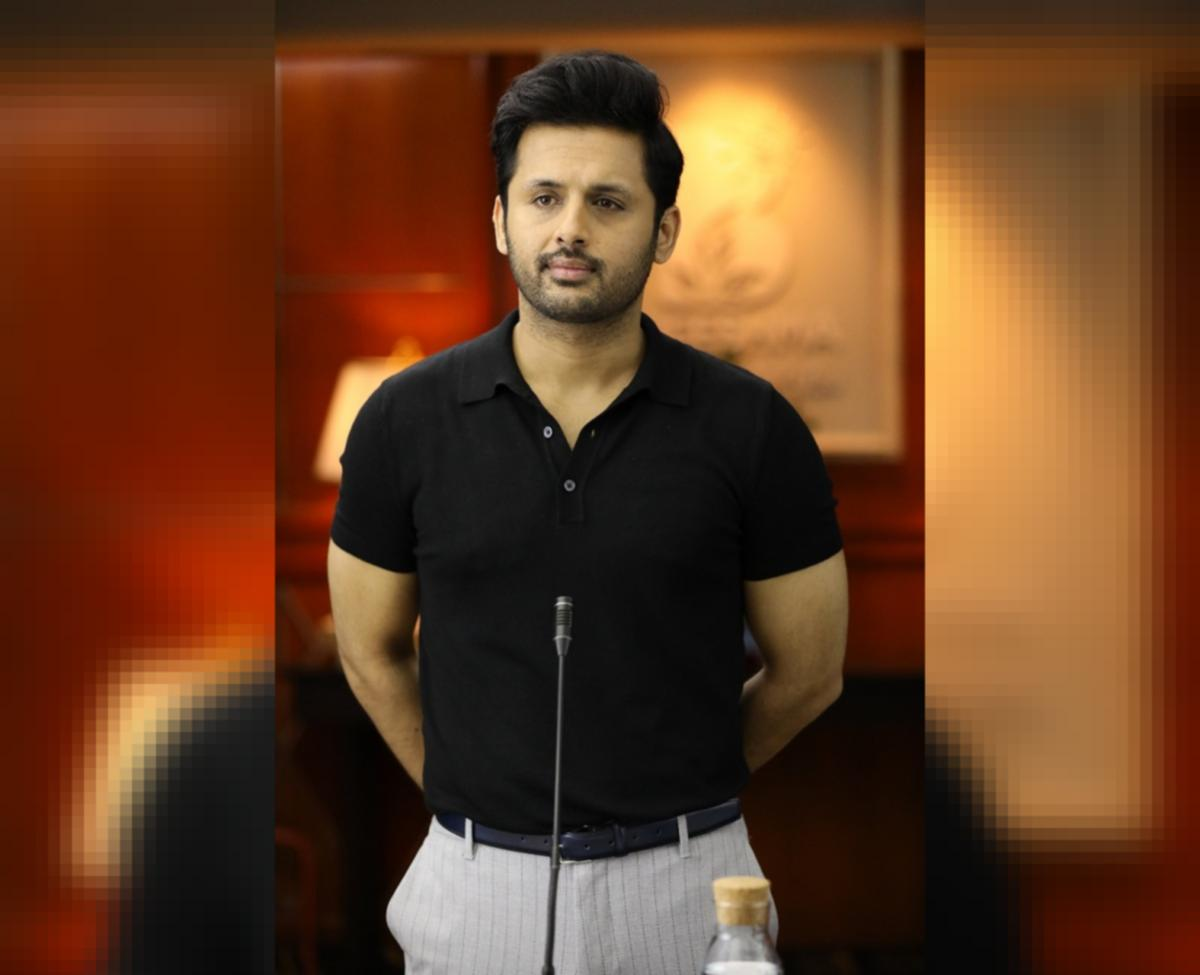 Nithiin New Look From Bheeshma Out Tollywood