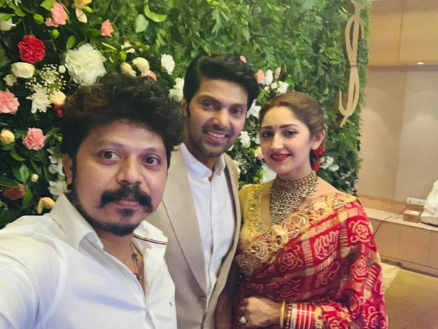 Arya and Sayyeshaa Wedding Reception Photos