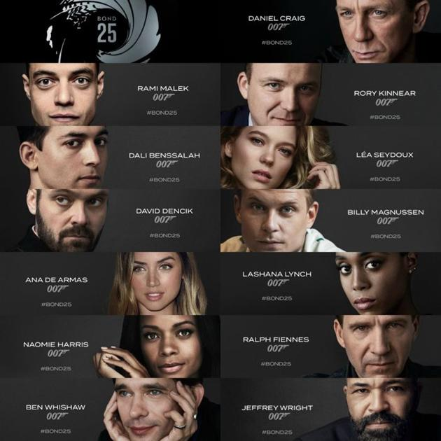 Bond25 Star Cast Pics
