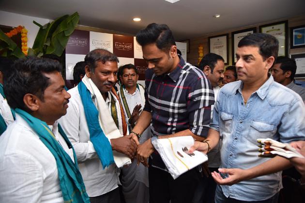 Dil Raju And Vamshi Paidipally At Ulavacharu Restaurant Event Photos