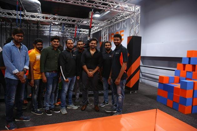 Sai Tej Opens SkyZone Hyderabad At AMB Gachibowli