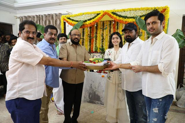 Nithin Venky Kudumula Movie Opening Photos