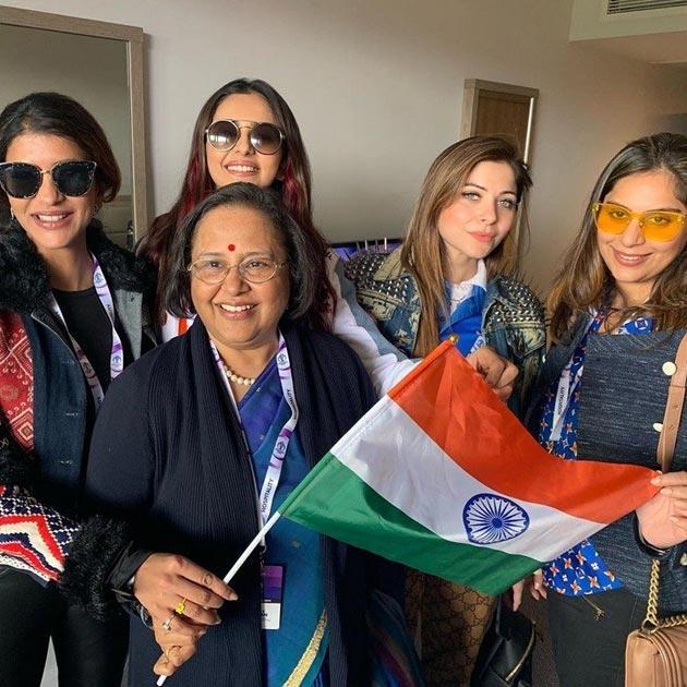 Upasana, Rakul And Lakshmi Manchu At IND vs PAK Match Photos