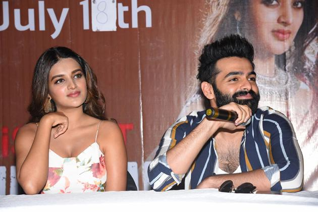 ISmart Shankar movie press meet at Vijayawada Photos