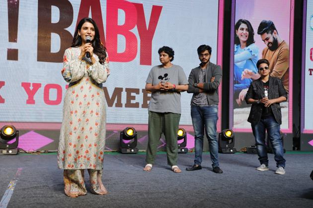 Oh Baby Movie Thanks Meet at Vijayawada Photos