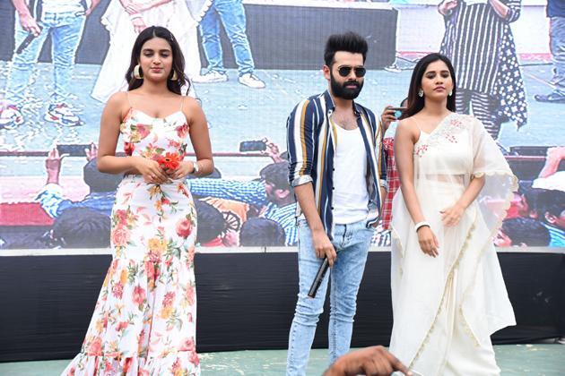 ISmart Shankar Movie Team At Guntur Vasireddy Venkatadri Institute of Technology Photos