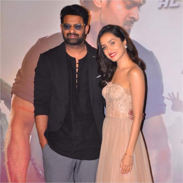 Prabhas and Shraddha Kapoor at Saaho Trailer Launch Event