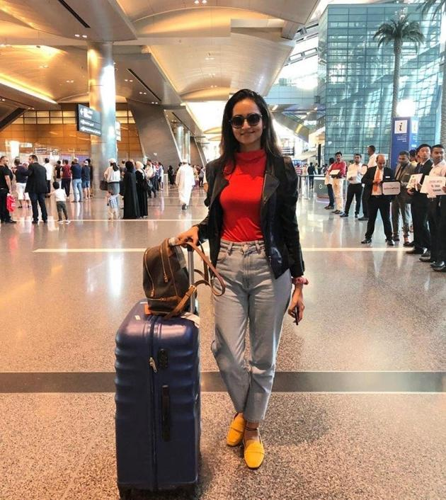 Celebs Arrive At Doha For SIIMA 2019 Photos