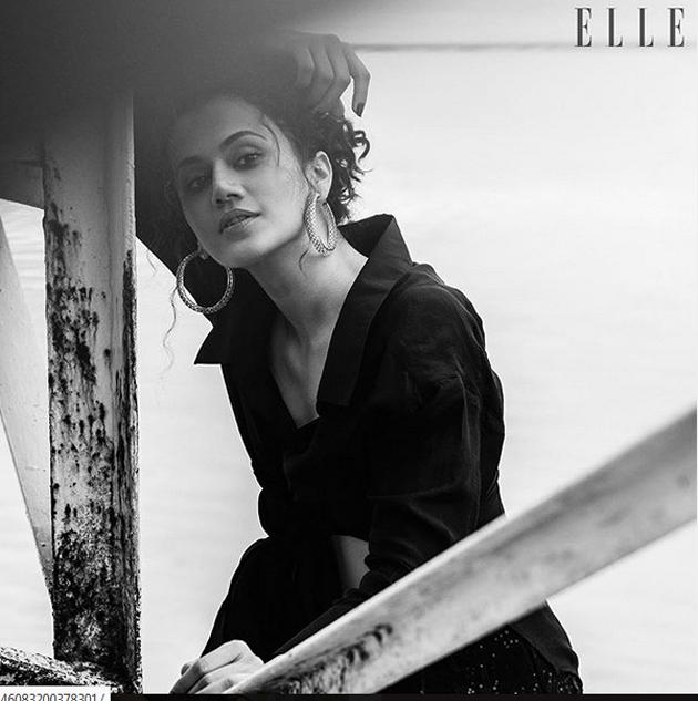 Taapsee Poses for Elle