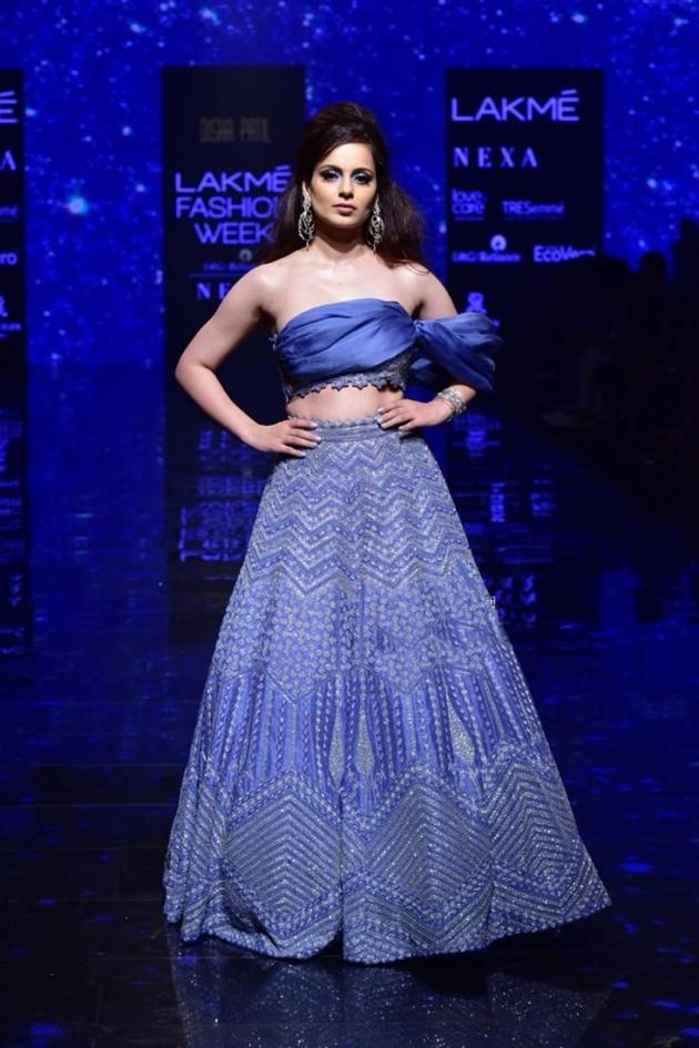Kangana Ranaut Walks The Ramp At Lakme Fashion Week Photos