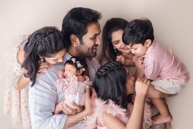 Manchu Vishnu Cute Family Photos
