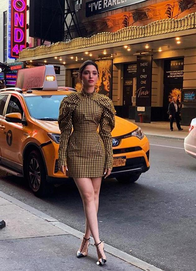 Tamanna Holidaying At Times Square in New York