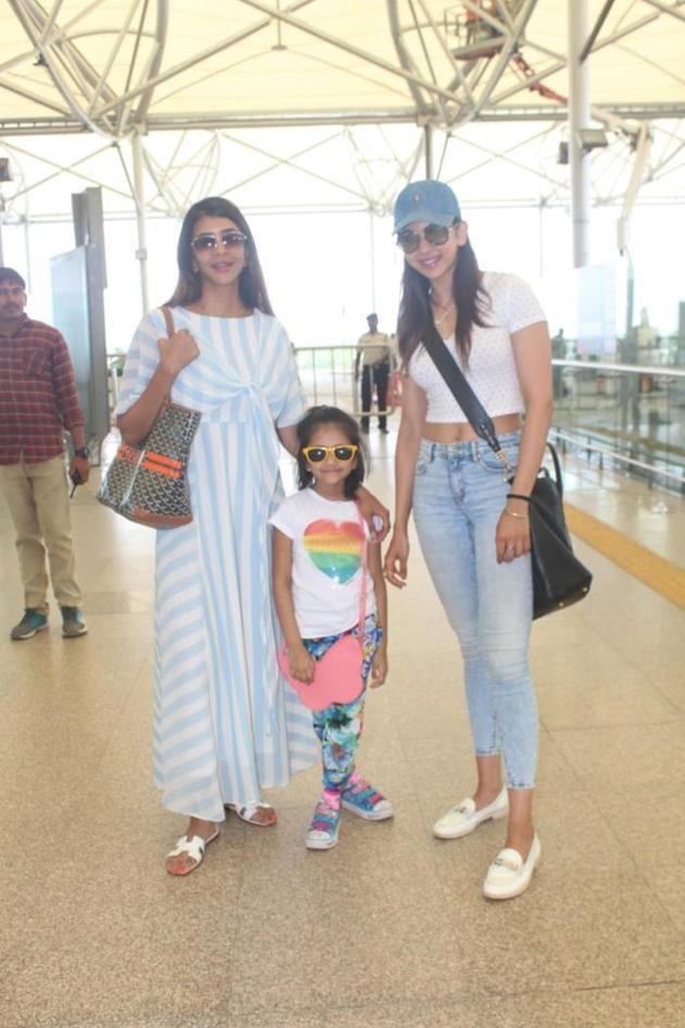 Manchu Lakshmi And Rakul Preet Heading to Goa Photos