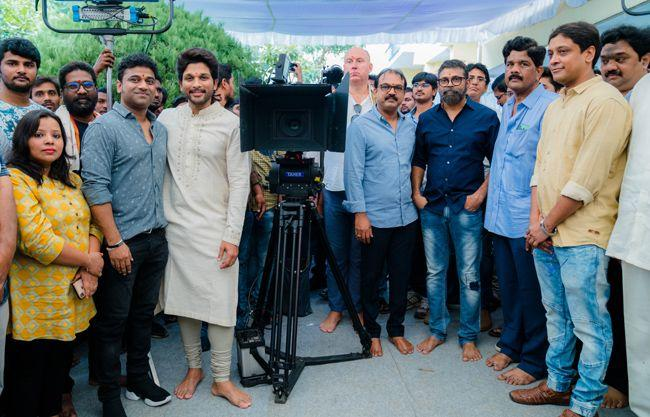 Stylish Star Allu Arjun Movie Opening