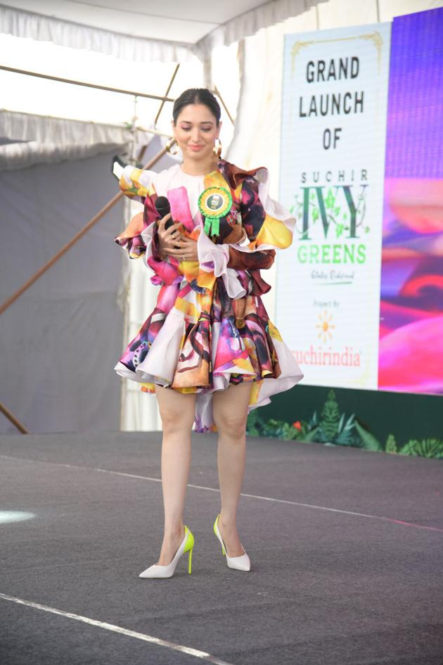 Tamannah and Mohd Azharuddin Grand Launched the SUCHIRINDIA IVY GREENS PROJECT Photos