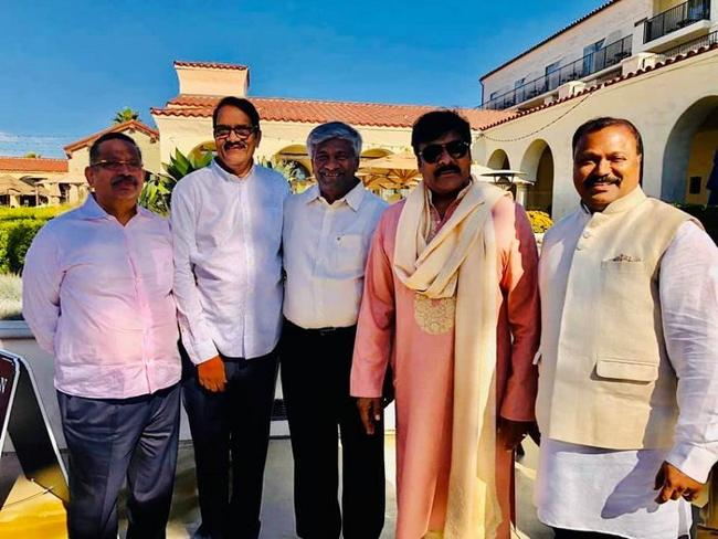 Chiranjeevi And Venkatesh In A Private Event