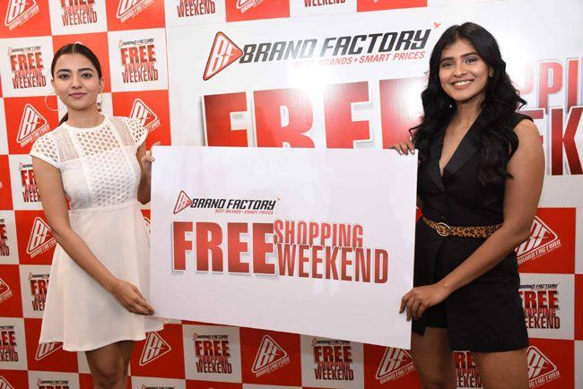 Hebah Patel And Rukshar Dhillon Unveils Free Shopping Weekend Of Brand Factory