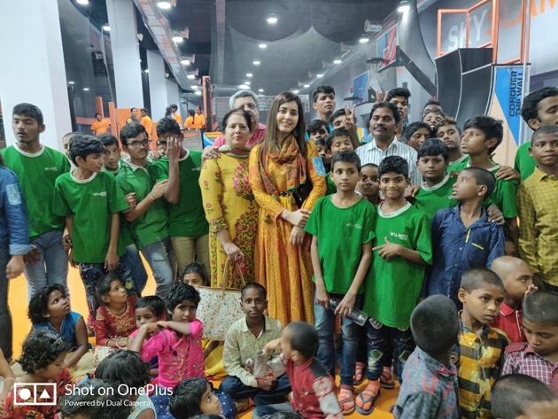 Raashi Khanna Uniquely Celebrate Birthday Sky Zone Photos