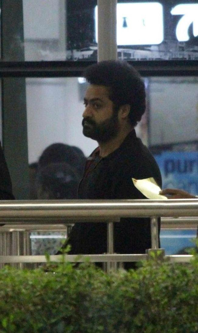 Jr Ntr Spotted At Shamshabad Airport