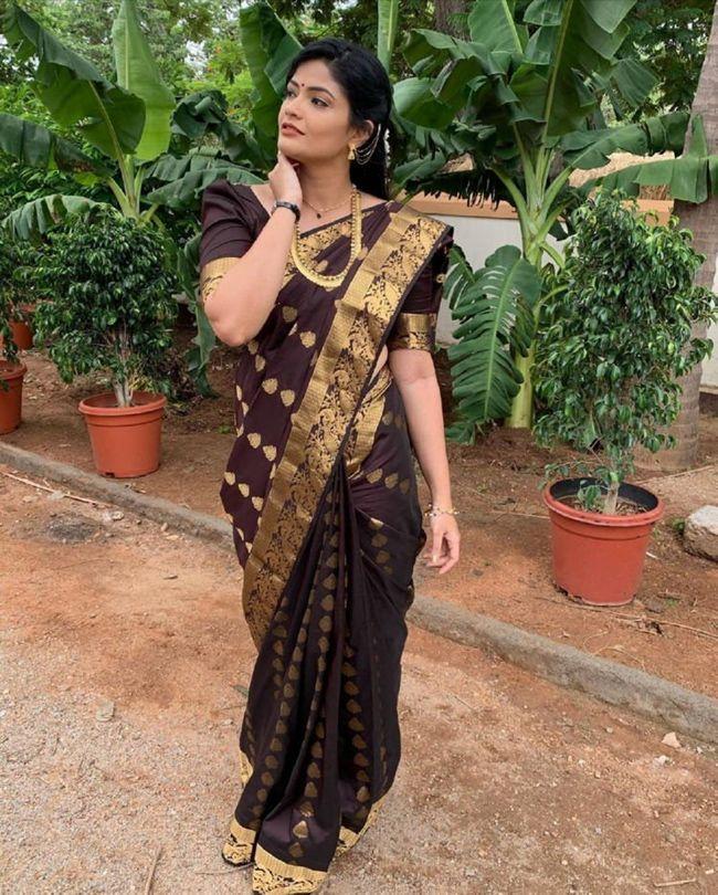 Kalpika Ganesh In Traditional Wear