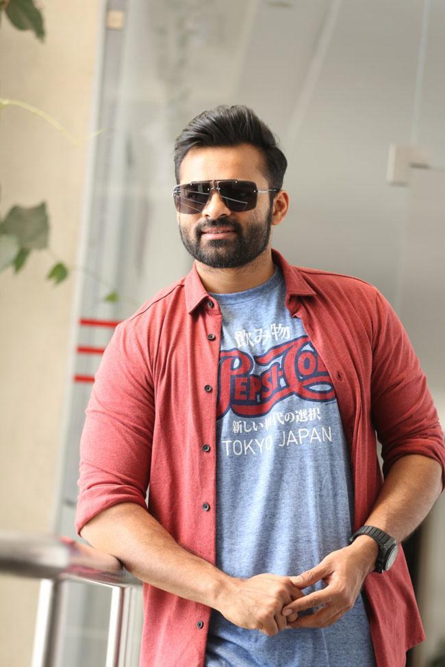 Sai Dhram Tej Interview Pics