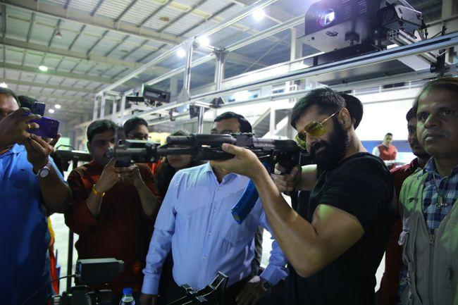 Ram Tryst With Rifle Shooting Stills
