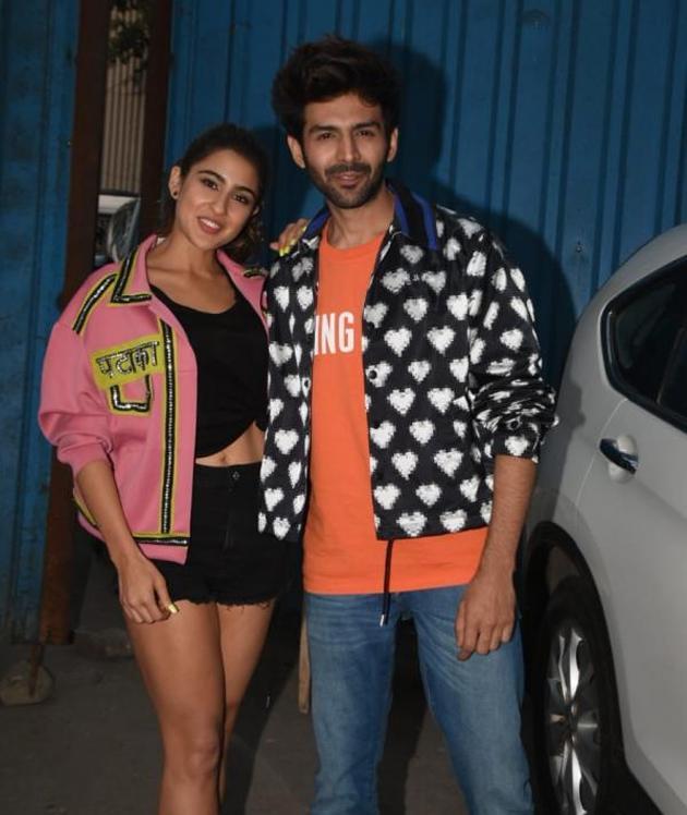 Sara Ali Khan and Kartik Aaryan At Love Aaj Kal Trailer Launch