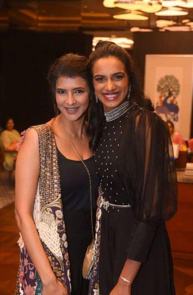 Laxmi Manchu And PV Sindhu Celebrating Party