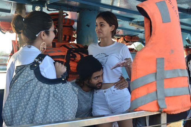Ananya Pandey Vijay Devarakonda Snapped At Movie Shoot
