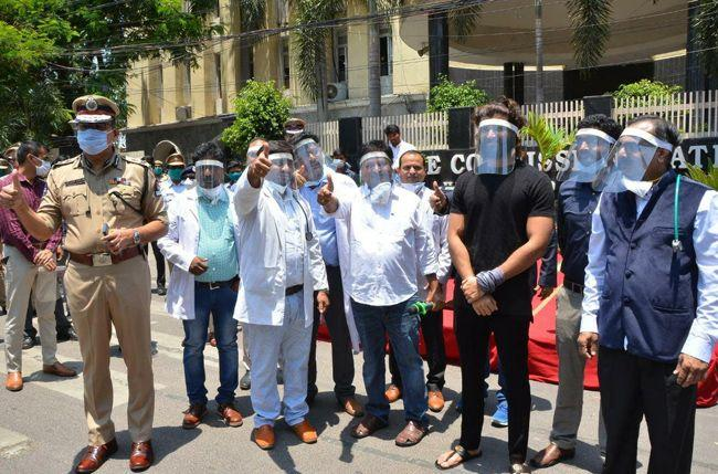 Vijay launches Face Protection Shields