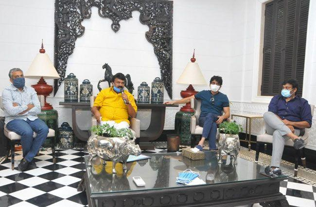 Photos of Celebrities Met At Chiranjeevi Residence