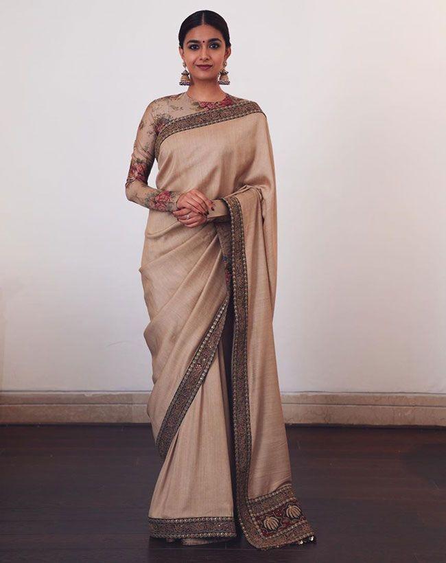 Keerthy Suresh New saree Hd pics