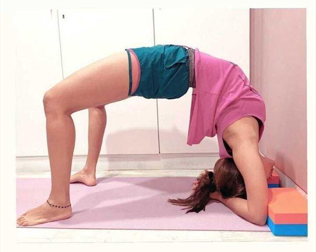 Pooja Hegde Yoga Poses