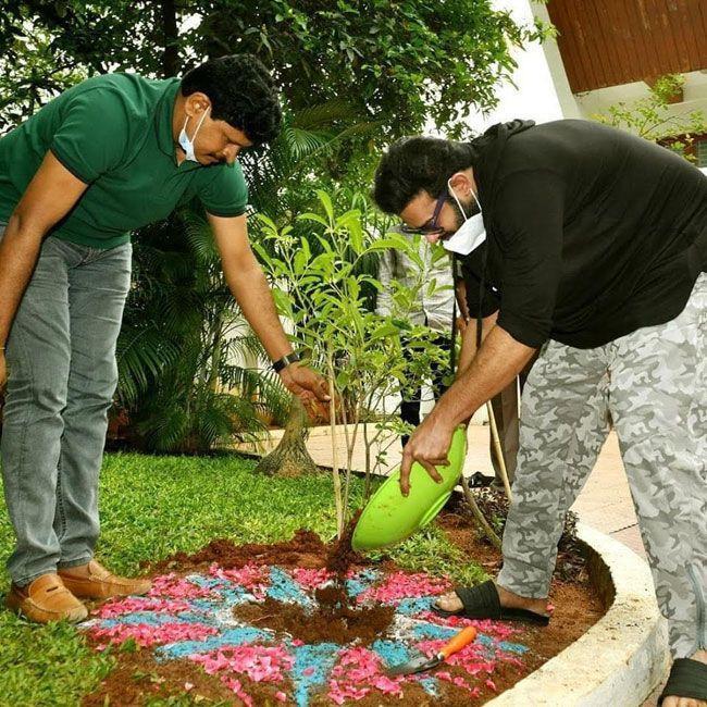 Prabhas Green India Challenge Pics