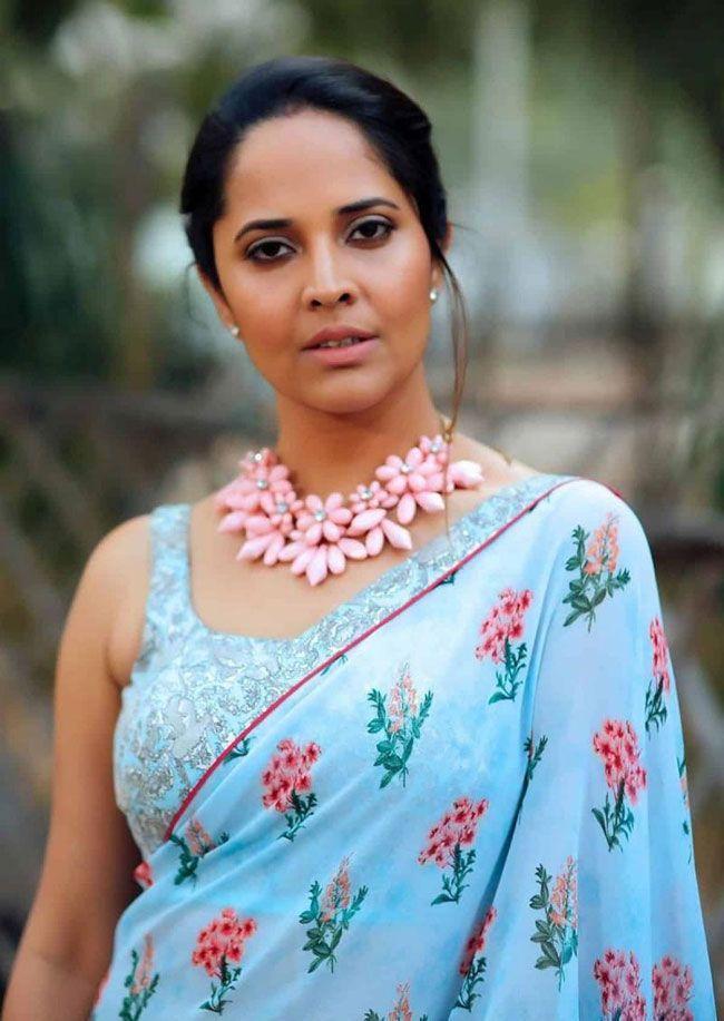 Anasuya Beautiful Looks In saree
