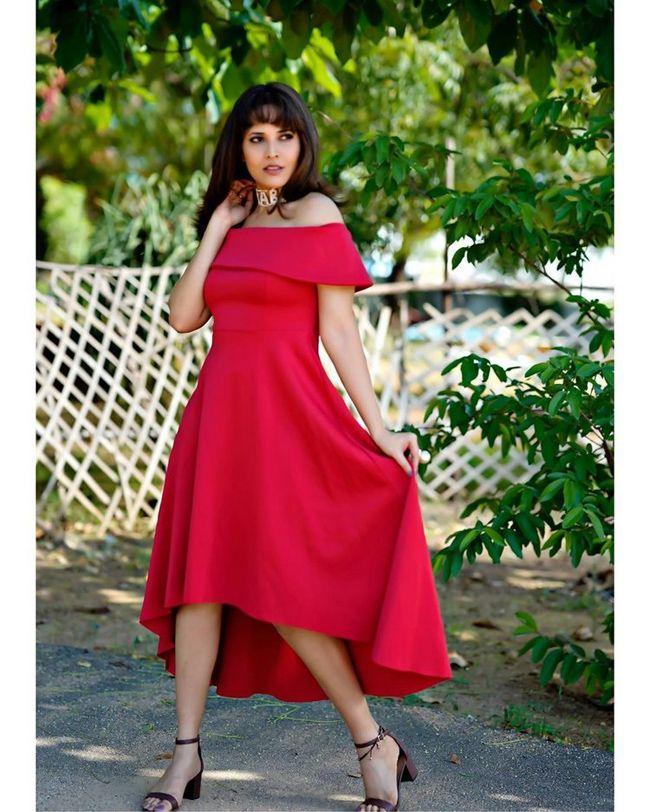 Anasuya Bharadwaj Looking Gorgeous In Red