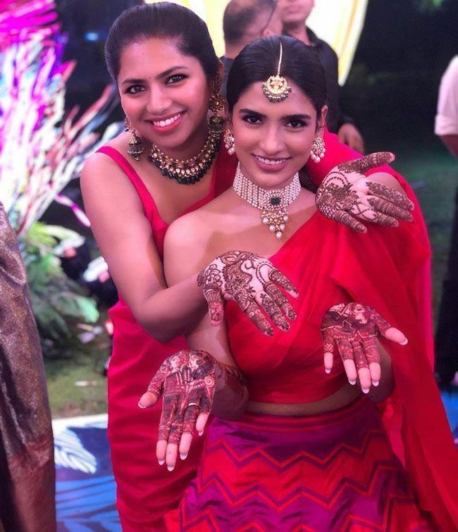Photos Of Nithiin And Shalini Mehendi Event