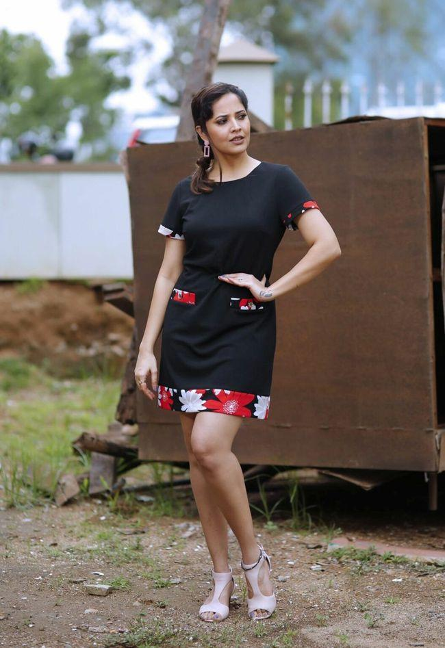 Anasuya Looking Gorgeous In Black