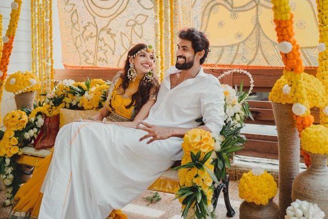 Rana Daggubati And MiheekaBajaj Haldi Ceremony Pics