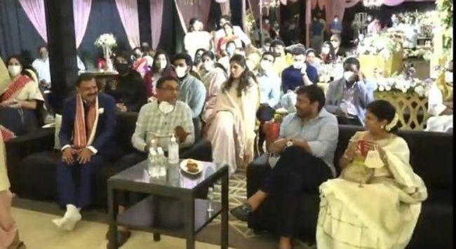 Mega Family At Niharika Engagement