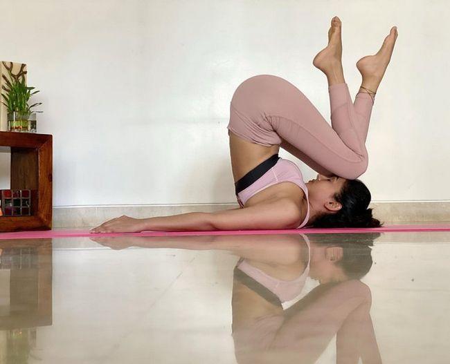 Sonal Chauhan Yoga Poses