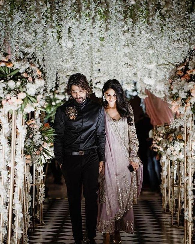 Allu Arjun And Sneha At Niharika Engagement
