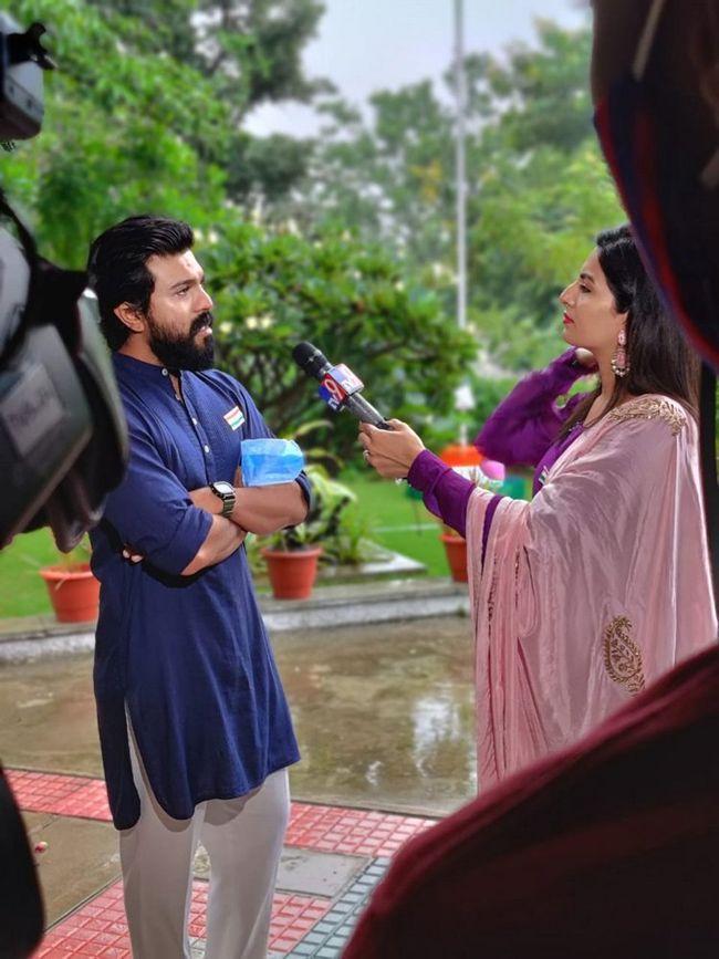 Ram Charan Interview Clicks