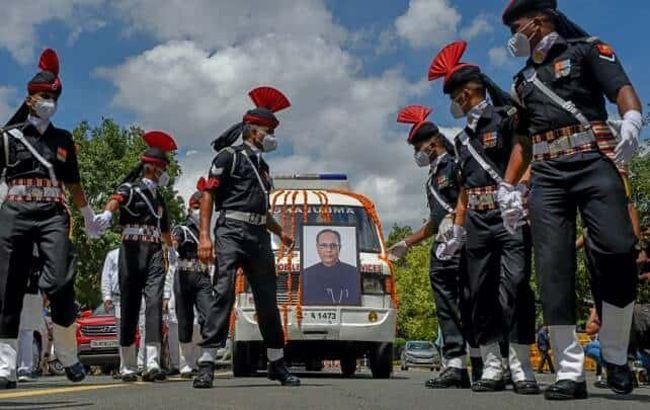 Pranab Mukherjee Cremation Pictures