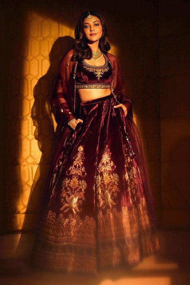 Kajal Aggarwal Flaunts Her Traditional View