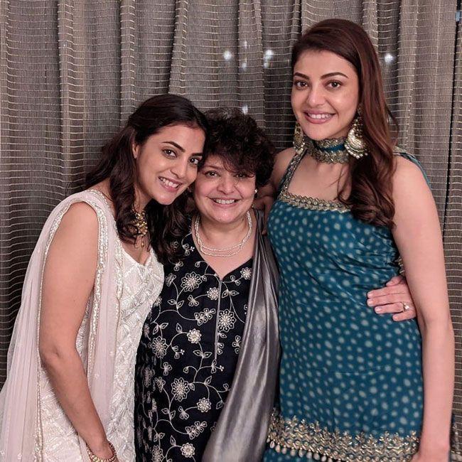 Kajal Enjoying With Her Sister Nisha Agarwal Son Ishaan