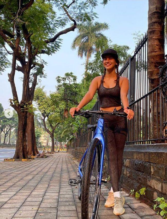 Aisha Sharma cycling photos