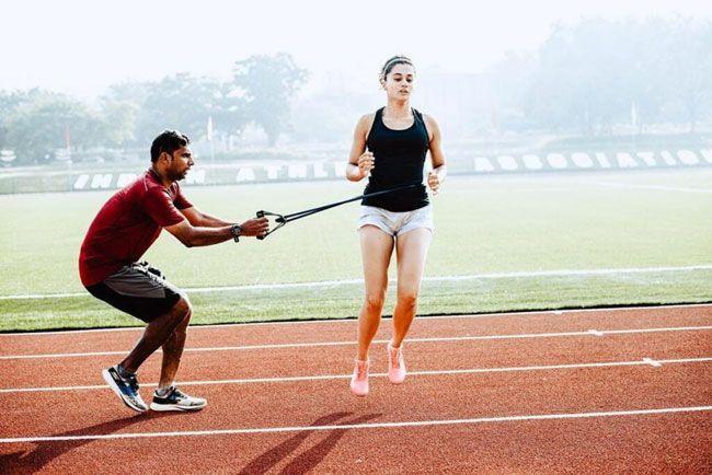 Taapsee New Movie Rashmi Rocket Training Pics