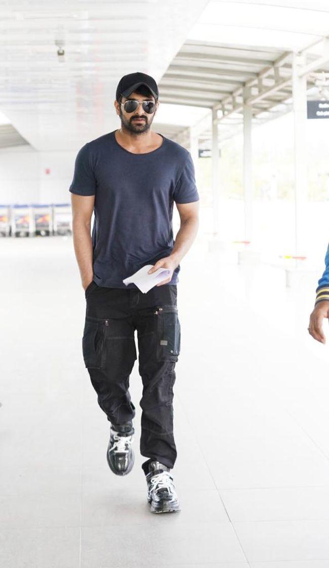 Nagashaurya Spotted At Hyderabad International Airport