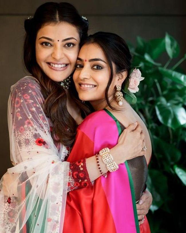 Gorgeous Beauty Kajal Aggarwal With Her Sister Nisha Aggarwal